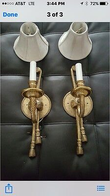 Gold Candlestick Tassel Sconces Electric