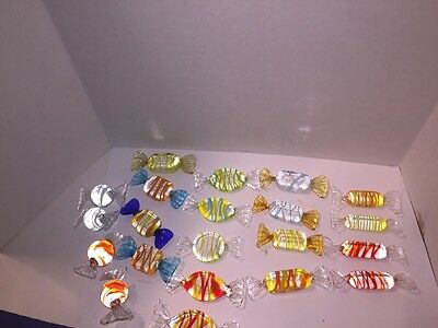 21 Murano ? ???? Glass Candy Many Different Colors