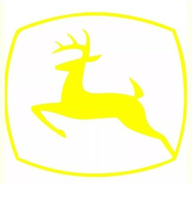"""John Deere Tractor Decal 6"""" Any Color Farming Sticker Truck Car Window"""