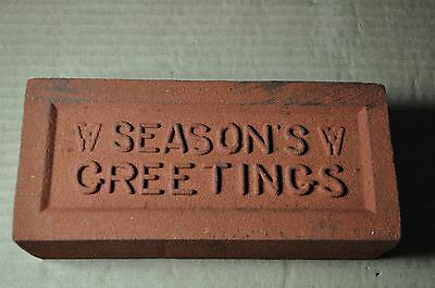 "Antique Christmas Brick ""season's Greetings"" Made By Glen Gery Brick Co."