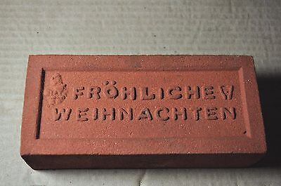 "Antique Christmas Brick ""frohliche Weihnachten"" Made By Glen Gery Brick Co."