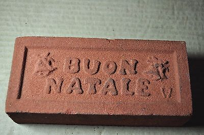 "Antique Christmas Brick ""buon Natale"" With Bells, Made By Glen Gery Brick Co."