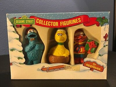 1988 Sesame Street Christmas Collector Figurines by Applause Toys