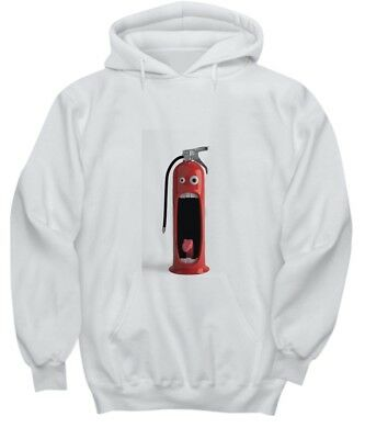Funny Surprised fire extinguisher - White Hoodie