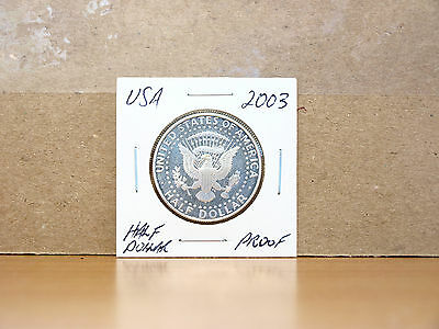 2003 PROOF United States Kennedy Half Dollar Coin (80% silver)