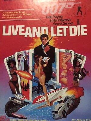 James Bond 007 Victory Games RPG Live and Let Die 1984 All Materials New