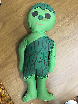 Vintage Jolly Green Giant Plush Little Sprout Fabric Doll Advertising Toy Stuff