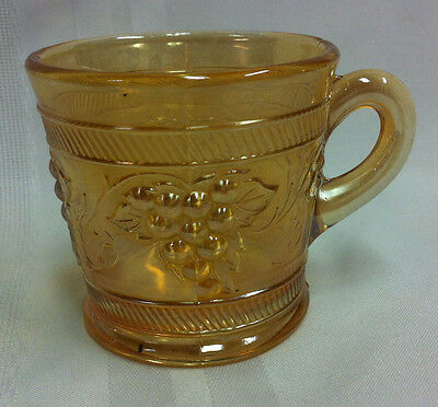 Vintage, Carnival glass cup, Marigold