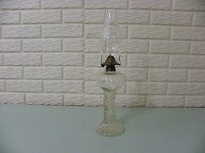 Vintage # 1 Pattern Glass  Oil Lamp With Globe And New Wick