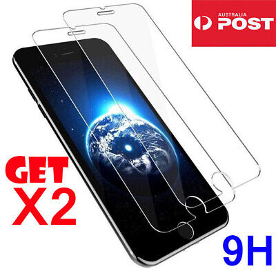 2X iPhone 8 7 6 6S Plus 9H Premium Tempered Glass Screen Protection For Apple