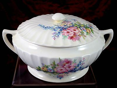 EDWIN KNOWLES  Round COVERED VEGETABLE BOWL Flower Bouquet