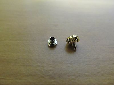 5.3 MM WRIST WATCH GOLD PLATED THREAD CROWN & TUBE fits ROLEX & ALL AUTOMATIC BR