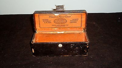 Vintage Schick Dry Shaver Box Leatherette With Advertising  - Box Only