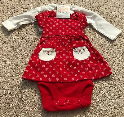 Baby Girl's Carter's Just One You Christmas 2 Pc. Outfit-Newborn-Nwt!