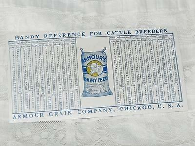 Antique Celluloid Advertising Armour Grain Company~Cattle Breeders~Dairy Feed