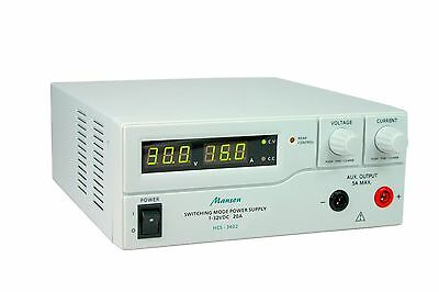 Manson HCS-3402 Lab Power Supply 1-32VDC 0-20A with remote control & presets