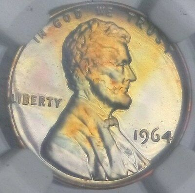 1964 Proof Memorial Cent - NGC PF67 RB - TONED