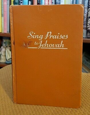 Sing Praises to Jehovah Song Hymn Book 1984 Hardcover Watch Tower Christian