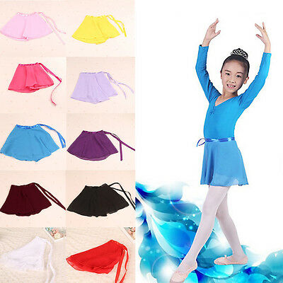 Toddler Kids Girls Gymnastics Ballet Dance Skate Wrap Scarf Leotard Tutu Skirt
