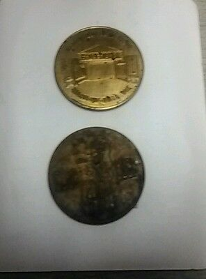 Fort Dells Wisconsin Dells Wisconsin gold colored metal trade token