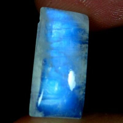 10.15Cts. 100% NATURAL FLASHING RAINBOW MOONSTONE OCTAGON CABOCHON AAA GEMSTONES