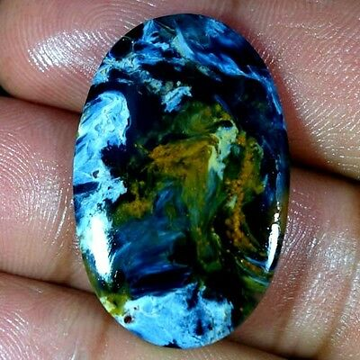 19.45Cts. 100% NATURAL CHATOYANT PIETERSITE OVAL CABOCHON HIGH QUALITY GEMSTONES