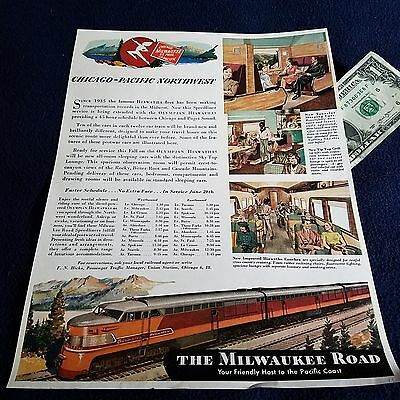 1950's Milwaukee Road Magazine Advertising  Page
