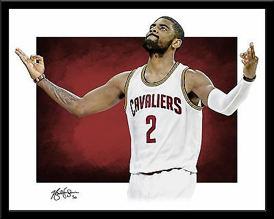 KYRIE IRVING signed print #5/10 Cleveland Cavaliers! Lebron Cavs Playoffs