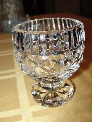 Waterford Crystal Footed Candy Dish Signed Must C
