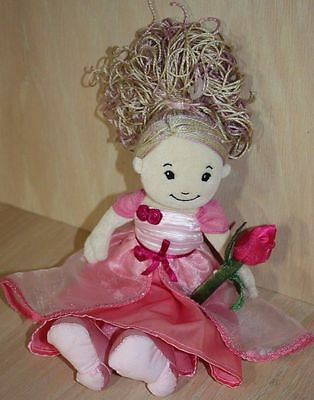 """Groovy Girls Dreamtastic 13"""" Pink Princess Seraphina Plush Doll w Rose Accessory"""