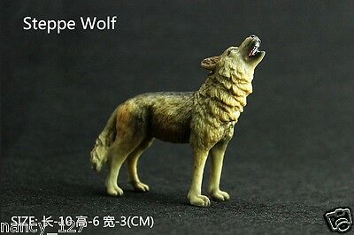 Animal Model Steppe Wolf Wild Figurine Collectible Figure Kids Toy