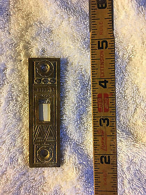 No. 31 Antique Victorian Striker Plate Brass