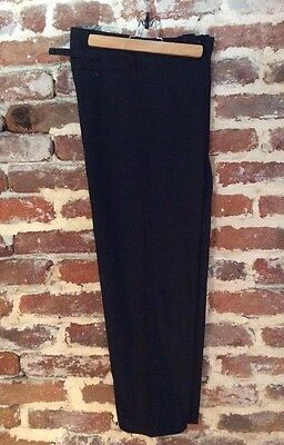 NOS Vtg French Pants Trousers Workwear Peasant Chore Folk Hobo Workers Black W37