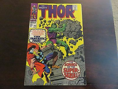 Thor #142 (Jul 1967, Marvel) Super-Skrull mid grade 6.5