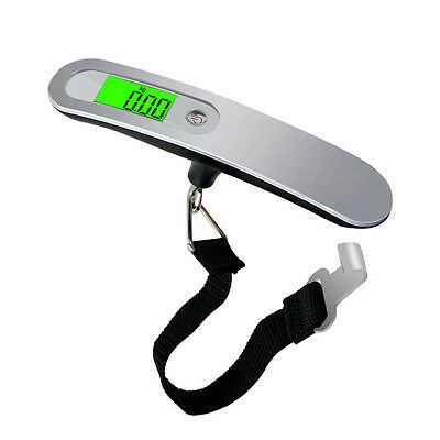50KG Weighing Portable Hanging Digital Travel Suitcase Luggage Backlit Scales