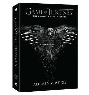 New Game Of Thrones : Complete Season 4  DVD Region 1 /Free Shipping Christmas