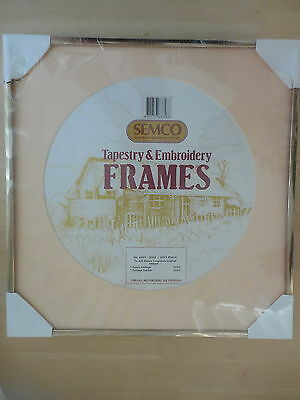 Semco Craft Tapestry & Embroidery Frame Soft Peach New  Suit Long Stitch