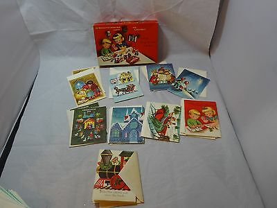 Vintage  BOX of SUNSHINE LINE Christmas CARDS for CHILDREN Activity Cards UNUSED