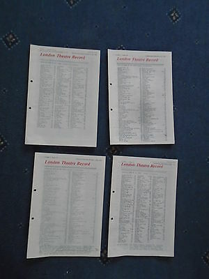 4 x issues London Theatre Record 1981 (tr3)