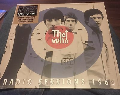 """The Who - Radio Sessions 1965  - 10"""" Blue Vinyl  - Brand New  - 1000 Only"""