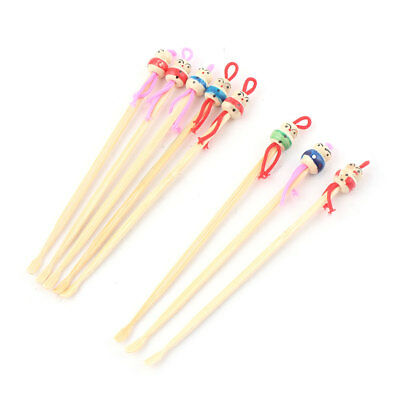 Bamboo Japanese Doll Decor Cleaning Tool Ear Wax Remover Earpick Spoons 8pcs