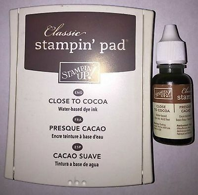 """Stampin' Up! Ink Pad and refill """"Close To Cocoa"""" Colour"""