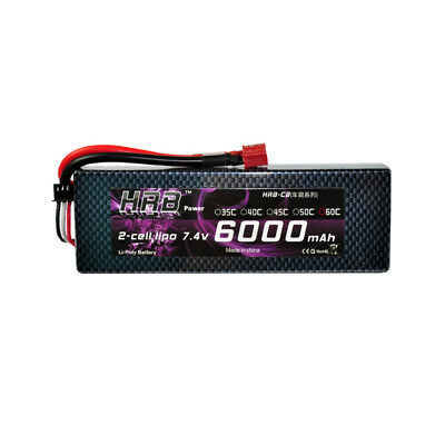 HRB RC Lipo Battery hard case 7.4v 6000mAh 60C for RC Traxxas Car Truck Plane