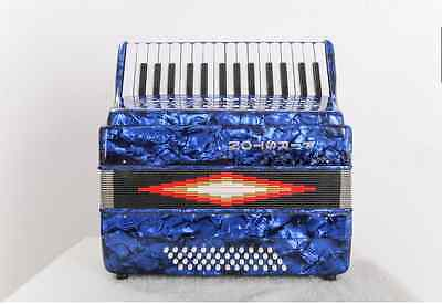 Blue Professional 30 Key 48 Bass Preferred Musical Instruments Accordion #
