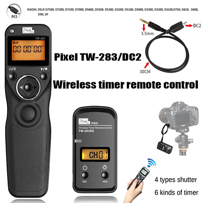 PIXEL TW-283/DC2 LCD Wireless Timer Remote Control Shutter Release For Nikon DF