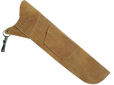 Traditional Fine Suede Tan Side/hip Arrow Quiver Archery Product Aq-111 R-H  L-H