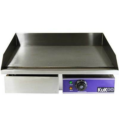 50cm Commercial Electric Griddle Kitchen Hotplate Stainless Steel - A2591*