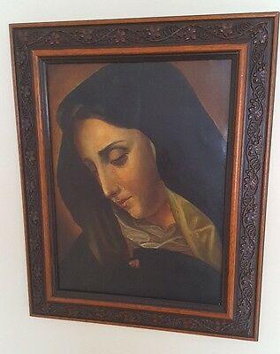 Old master 19th century, catholic oil painting on canvas