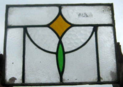A124   Stained Glass window . Ca 1910