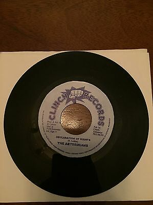 Declaration Of Rights The Abyssinian Clinch Records Reggae 7inch Vinyl